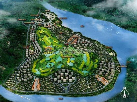 图为 西双版纳滨江果园避寒度假山庄总平面图